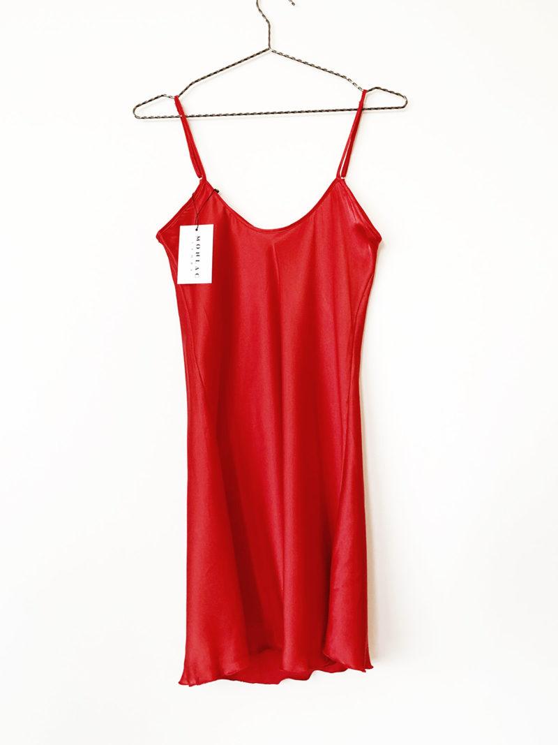 red sleep dress