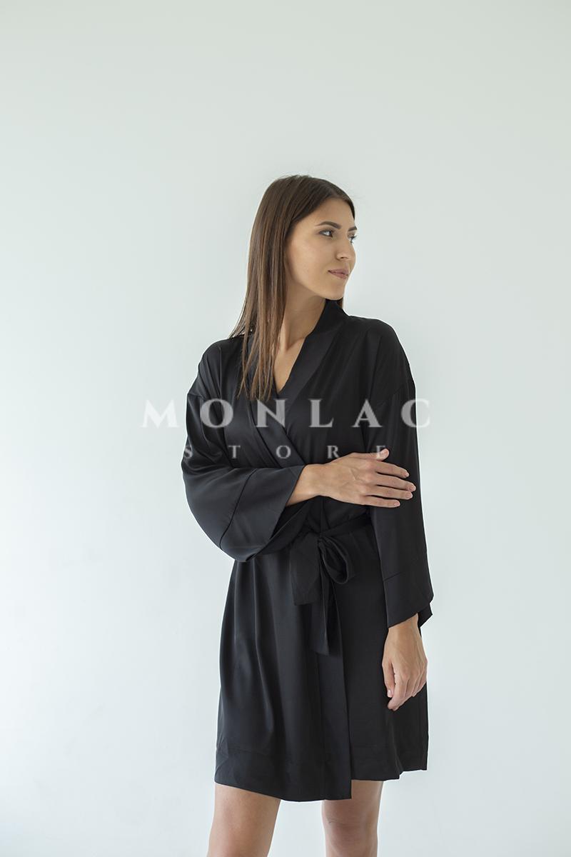 black gown silk monlacstore