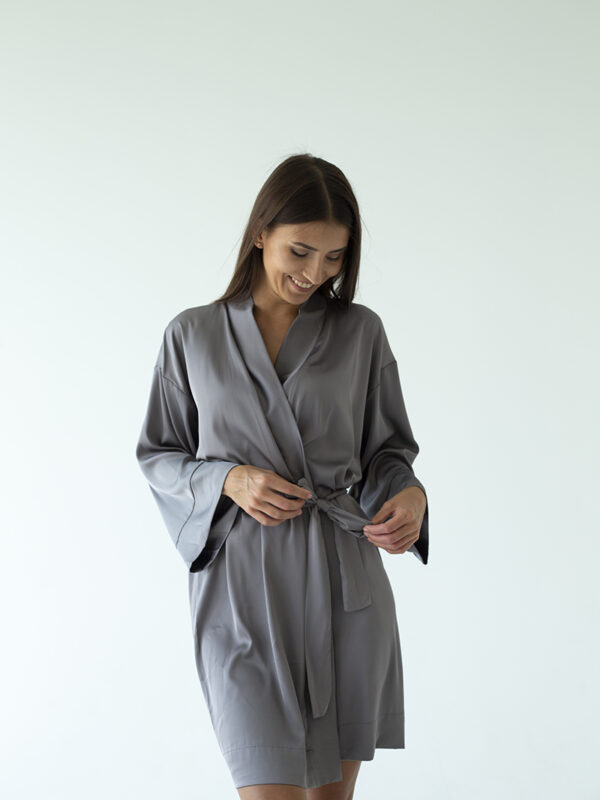 silk nightgown grey